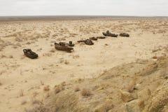 Naufragio del mare di Aral Immagine Stock Libera da Diritti