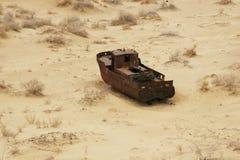 Naufragio del mare di Aral Fotografia Stock