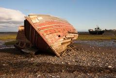 Naufragio della barca Immagini Stock Libere da Diritti