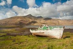 Naufragio della barca di Pennyghael Fotografia Stock Libera da Diritti