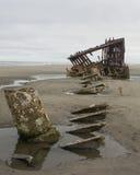 Naufragio della costa dell'Oregon fotografie stock libere da diritti
