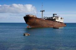 Naufragio della nave Fotografie Stock Libere da Diritti