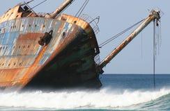 Naufragio della nave Immagini Stock