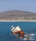 Naufragio della nave Fotografia Stock