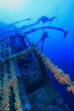 Naufragio ed operatori subacquei Fotografie Stock