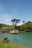 Naufragio en bahía romántica Imagen de archivo libre de regalías
