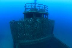 Naufragio en el mar Mediterráneo Imagenes de archivo
