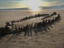 Naufragio en la playa de Rossbeigh Imagen de archivo libre de regalías
