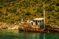 Naufragio II all'isola di Alonissos, Grecia Fotografia Stock
