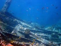 Naufragio Isole Vergini della nave, caraibiche Immagine Stock