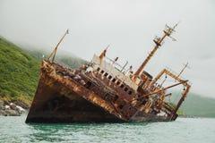 Naufragio in Kamchatka fotografie stock