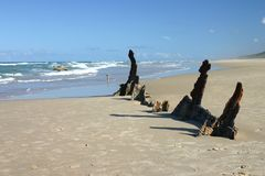 Naufragio in sabbia fotografie stock