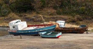 Naufragio a sud di Punta Arenas Cile immagini stock libere da diritti