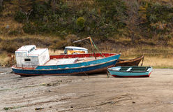 Naufragio a sud di Punta Arenas Cile fotografia stock libera da diritti