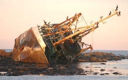 Naufragio sulla costa Est del nord Fotografie Stock
