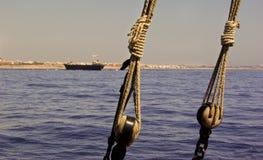 Naufragio y cuerdas Foto de archivo