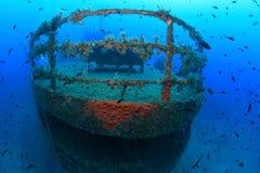 Naufrágio e peixes Fotografia de Stock Royalty Free