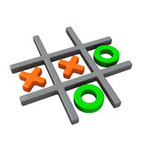 Naughts and crosses game, 3d illustration Stock Photo