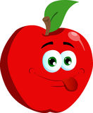 Naughty apple Royalty Free Stock Images