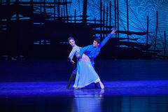 """Naughty boy-Dance drama """"The Dream of Maritime Silk Road"""". Dance drama """"The Dream of Maritime Silk Road"""" centers on the plot of two generations Stock Images"""