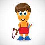 Naughty boy with slingshot Stock Photo