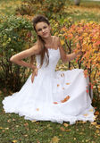Naughty bride Stock Photo