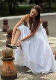 Naughty bride Royalty Free Stock Image