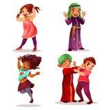Naughty children misbehavior vector illustration royalty free illustration