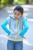 Naughty chinese child Stock Photo