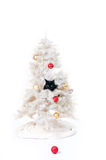 Naughty christmas cat Royalty Free Stock Images