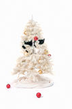 Naughty christmas cat Royalty Free Stock Photo