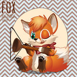 Naughty Fox playing with household items Royalty Free Stock Images