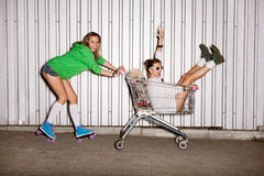 Naughty girls royalty free stock photos