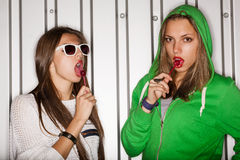 Naughty girls Royalty Free Stock Images