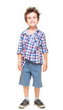 Naughty hairy little boy in shorts Stock Photo