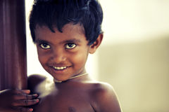 Naughty Indian little boy Royalty Free Stock Image