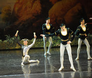 The naughty Jester-ballet Swan Lake Stock Images