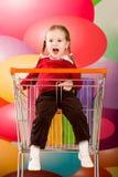 Naughty kid royalty free stock image