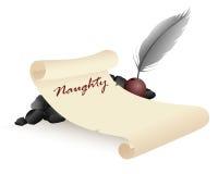 The naughty list stock illustration