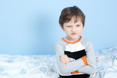 Naughty little boy. Royalty Free Stock Photo