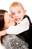 Naughty little boy crying Royalty Free Stock Photos