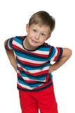 Naughty little boy Stock Photos