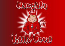 Naughty Little Devil Stock Image