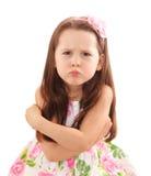 Naughty little girl Stock Photography