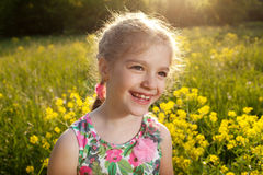 Naughty little girl Royalty Free Stock Images