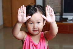 The naughty little girl. Stock Photography