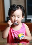 The naughty little girl. Royalty Free Stock Photography