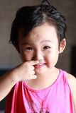 The naughty little girl. royalty free stock images