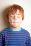Naughty looking boy Royalty Free Stock Photo