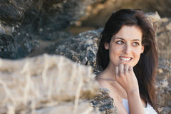 Naughty natural woman portrait Royalty Free Stock Images